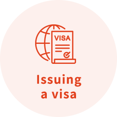 Issuing a visa